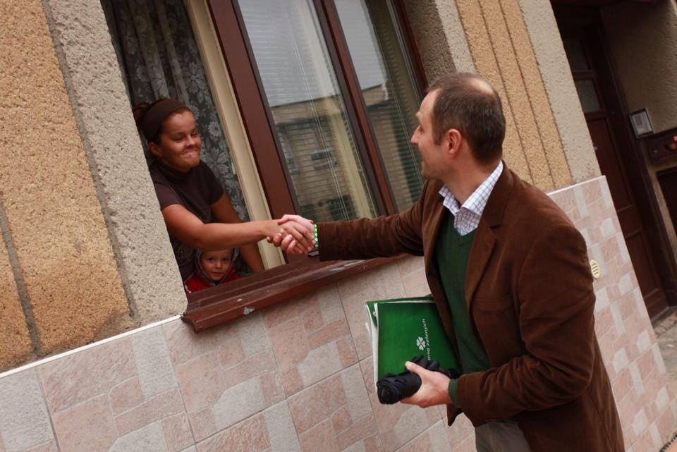 Door-to-door kampaň Strany zelených