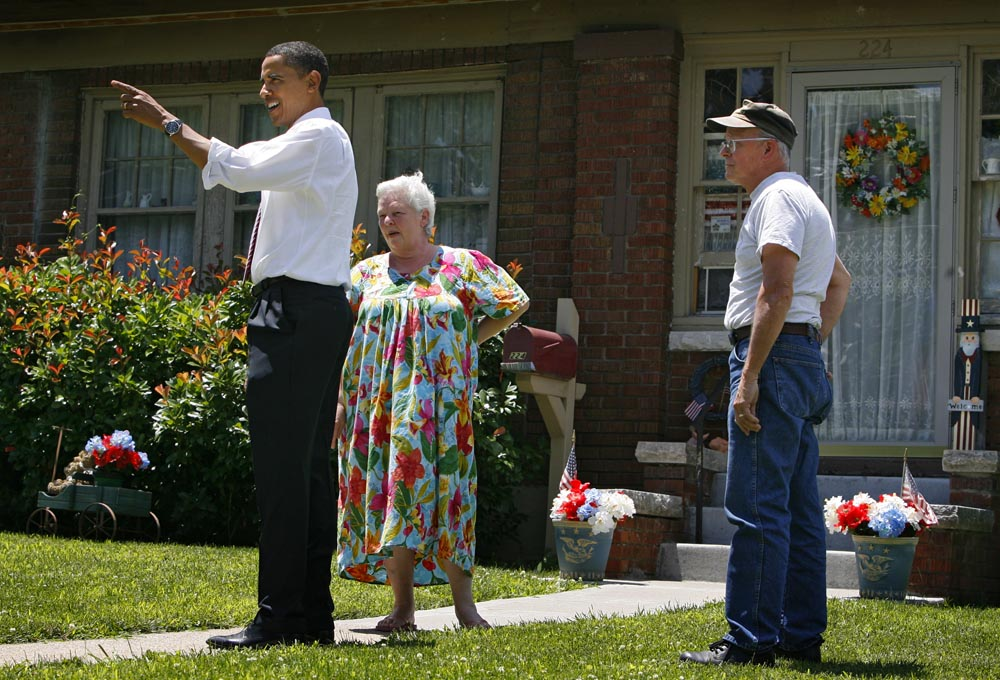 Americký prezident Barack Obama osobně chodí door-to-door