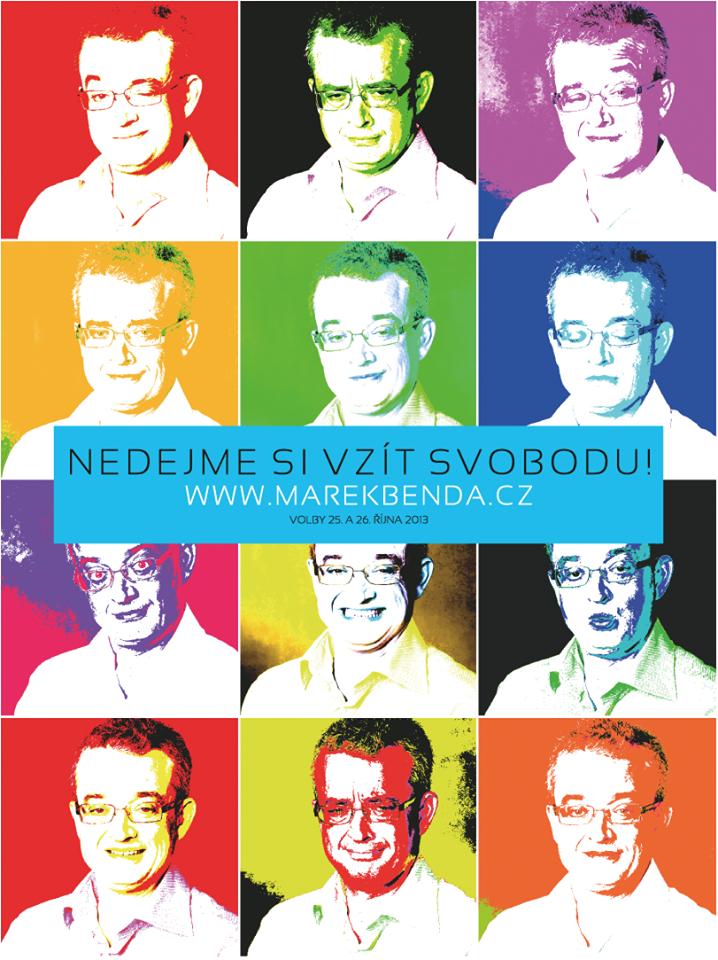 Barvný plakát Marka Bendy z ODS