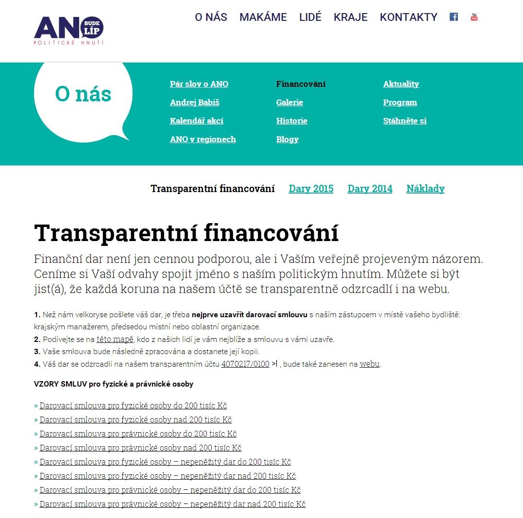 ANO fundraising
