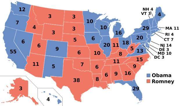 počty volitelů US