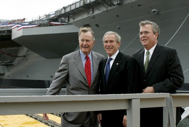 Jeb Bush s rodinou