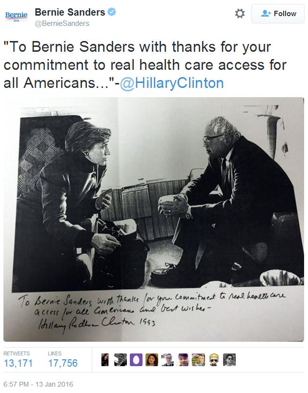 Bernie Sanders leden Twitter