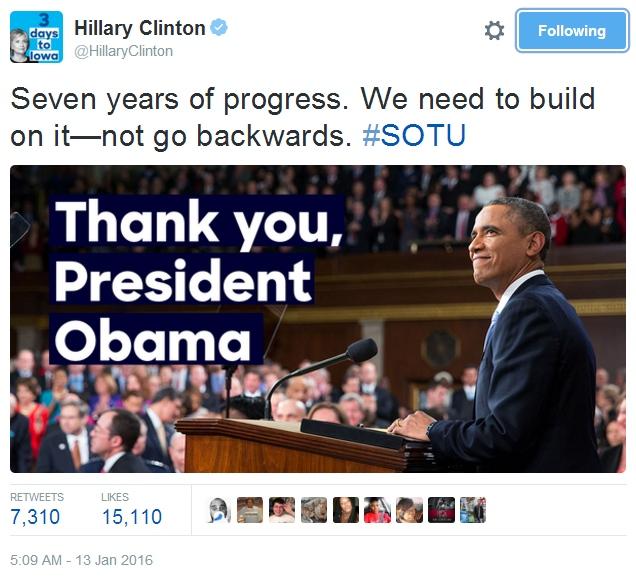 Hillary Clinton Twitter leden