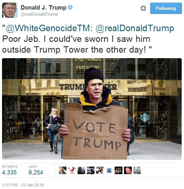 Donald Trump Twitter WhiteGenocide