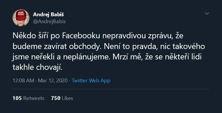 Babišův twitter